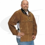 Side Split Cowhide Welding Cape Sleeve and Jumbo Bib Set