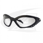 Click to see larger version of Shatterproof Safety Glasses. Clear Lenses With Black Frames