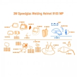 3M Speedglas Hard Hat for 9100 MP