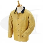 "Click to see larger version of DuraLite Premium Grain Pigskin Welding Coat - 30"" (TAN)"