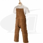 Side Split Cowhide Welding Split Leg Apron - 48