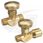 "Gas On/Off Valve - 1/4"" NPT Male to 5/8""-18 RH Female"