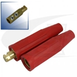 Click to see larger version of 500 Amp Cam-Lock Style Connectors - Red