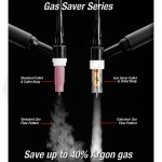 Gas Saver™ #8 Nozzle 17/18/26 & 3-Series TIG Torches