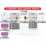 Gas Saver™ #18 Nozzle 17/18/26 & 3-Series TIG Torches