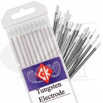 Click to see larger version of CK® Brand 0.8% Zirconiated Tungsten Electrodes, 10-Pack