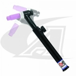 Click to see larger version of Flexible 150A 3-Series TIG Torch Body W/ 70° Head W/ Gas Valve
