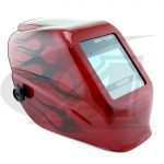 Click to see larger version of W60 Halo X NexGen, Variable Shade, Auto-Darkening, Red Flames
