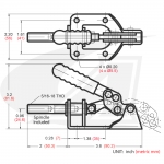 BuildPro™ Toggle Clamp -- Push/Pull