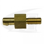 "Adapter, Dinse Male-to-1/2"" x 13 Male Thread"