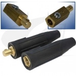 250 Amp Large Dinse Style Cable Connector - Black