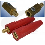 250 Amp Large Dinse Style Cable Connector - Red