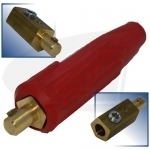 250 Amp Large Dinse Style Machine Connector - Red