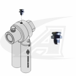 Button Head Grease Fitting for LRG Rotary Ground Clamps