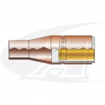 "Bottle Taper 1/2"" MIG Nozzle - Copper"