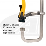 Ratchet Action Stetp-Over Utility Clamp - Medium Duty