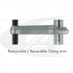 Reversible Arm Utility Clamp - Heavy Duty, Deep Throat