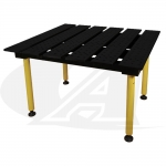 BuildPro™ 4' (1.2m) x 4' Welding Table - Nitride Finish