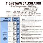TIG/GTAW Calculator