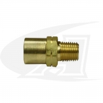 "Acetylene/Fuel Gas Coupler - ""A"" Size Male to ""B"" Size Female"