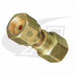 "Acetylene/Fuel Gas Adapter - ""B"" Size Female to 1/4"" NPT Female"