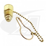 "Gas Line Plug w/Leash Chain 5/8""-18 Male"