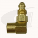 "90 Degree Gas Coupler - 5/8""-18 Male to 5/8""-18 Female"
