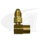 "Acetylene/Fuel Gas Coupler - 90° ""B"" Size Male-Female"