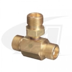 CGA-540 3-Way Male Splitter - Oxygen