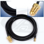 25' (7.6m) Rubber Power Cable, 250 Amp