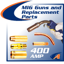 400 AMP MIG Guns and Replacement Parts