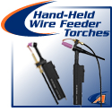 Hand-Held Wire Feeder TIG Torches