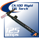 125 Amp CK100 Rigid TIG Torch Packages