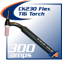 300 Amp CK230 Flex TIG Torch Packages