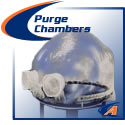 Purge chambers for welding pipe