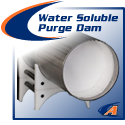 water soluble purge dams for pipe welding