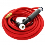 Flex-Head Air-Cooled 200A Torch W/ Valve & One-Piece Cable
