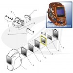 Digital Elite Replacement Auto-Darkening Lens Assembly