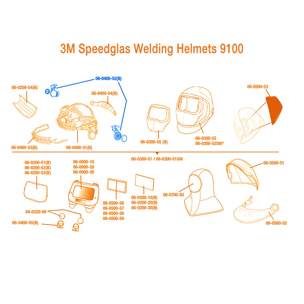 Large Image: 3M Speedglas Pivot Mechanism 9100 Headband for Left & Right Side