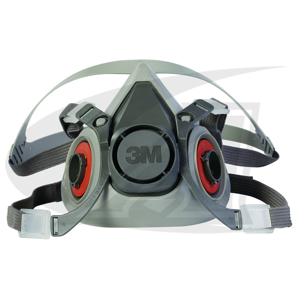 Large Image: 3M™ Affordable 6000 Series Half Facepiece Respirator