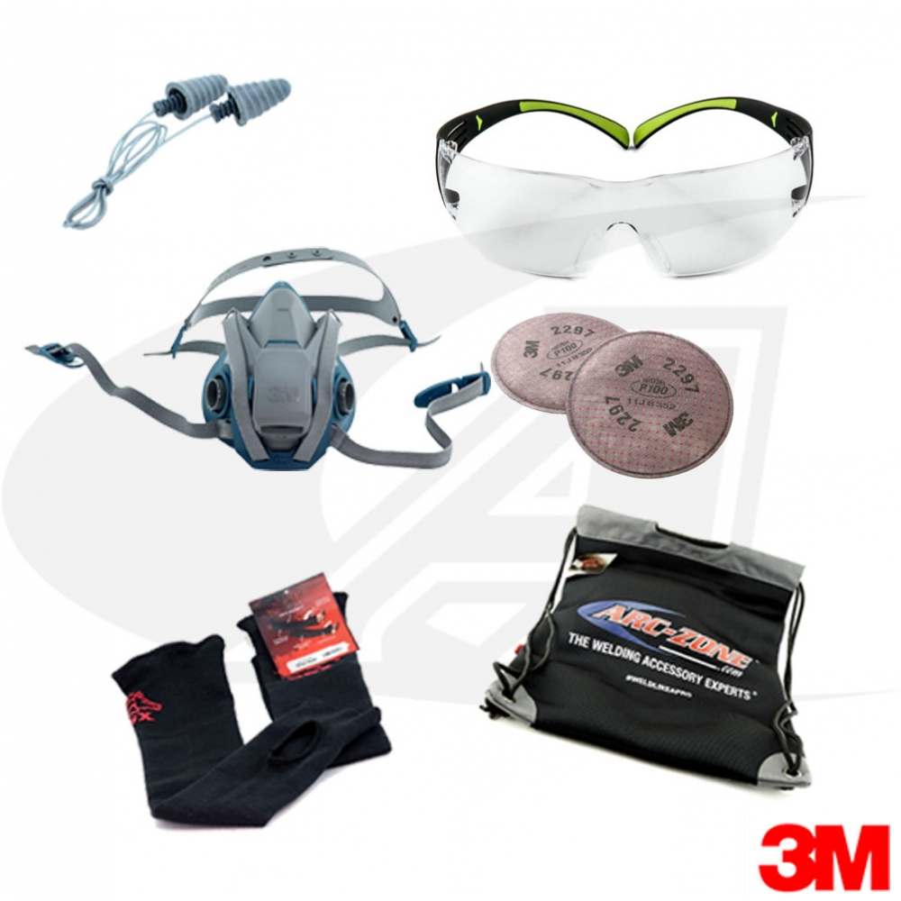 3M PPE Pack With Safety Glasses [A-GBPPE3MSG--] - $76.37 ...