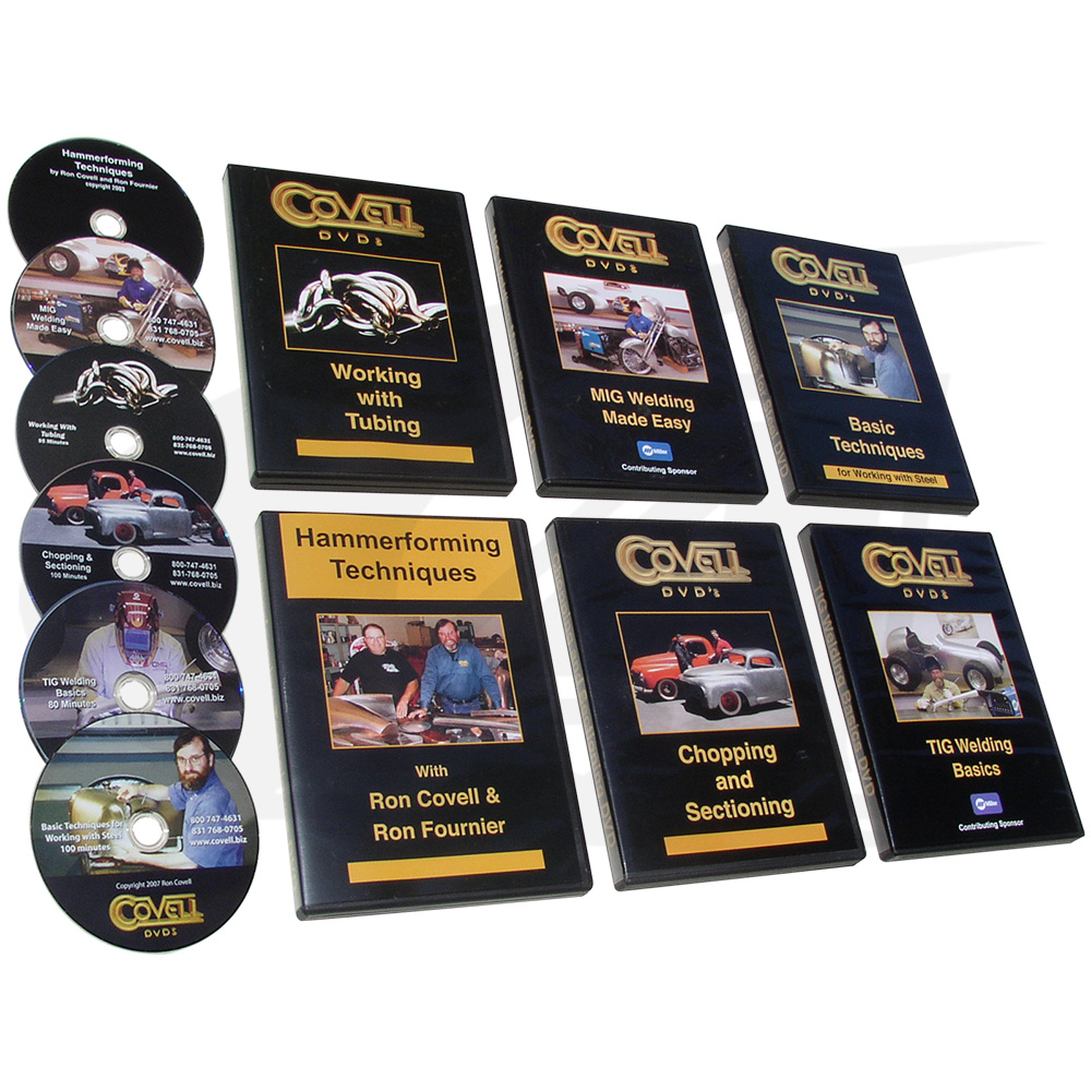 Large Image: Welding & Fabrication Instructional DVDs with Ron Covell