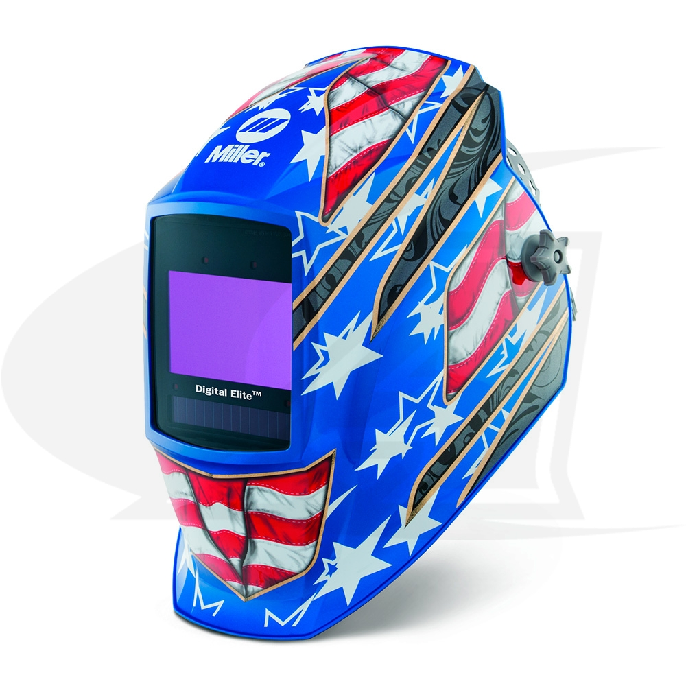 Large Image: Digital Elite Stars & Stripes III Auto-Darkening Welding Helmet
