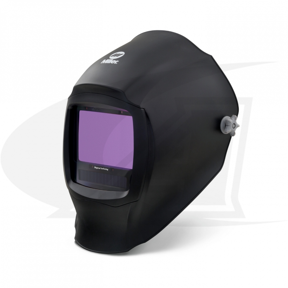 Large Image: Digital Infinity Black Auto-Darkening Welding Helmet
