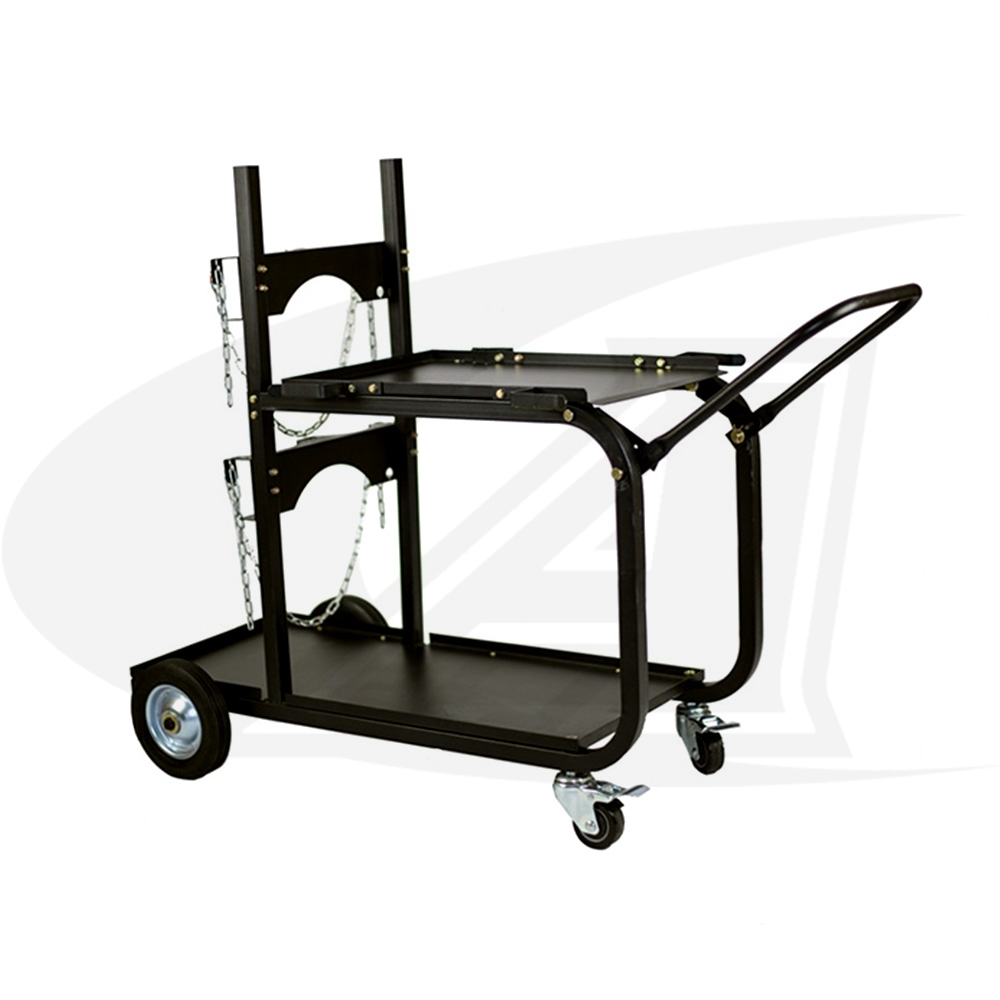 Large Image: Large Universal Welding Cart W/ Folding Handle