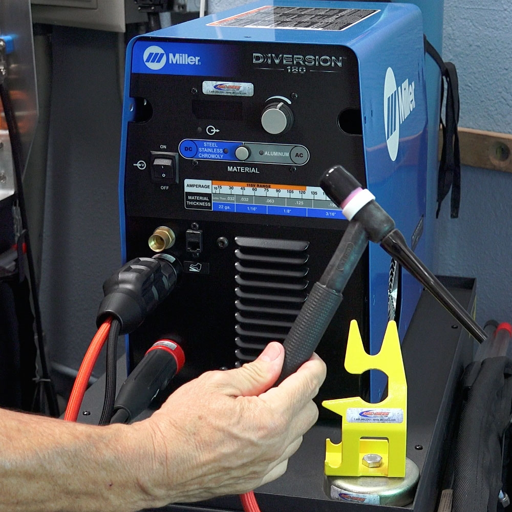 Add a water-cooled TIG torch to your Miller Diversion welding machine