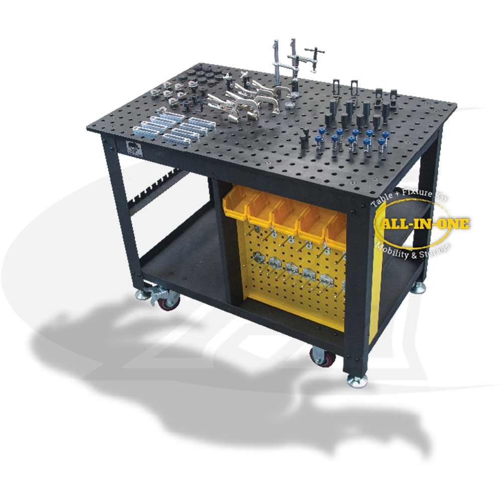 Large Image: Rhino Cart Mobile Fixturing Station - Free Shipping