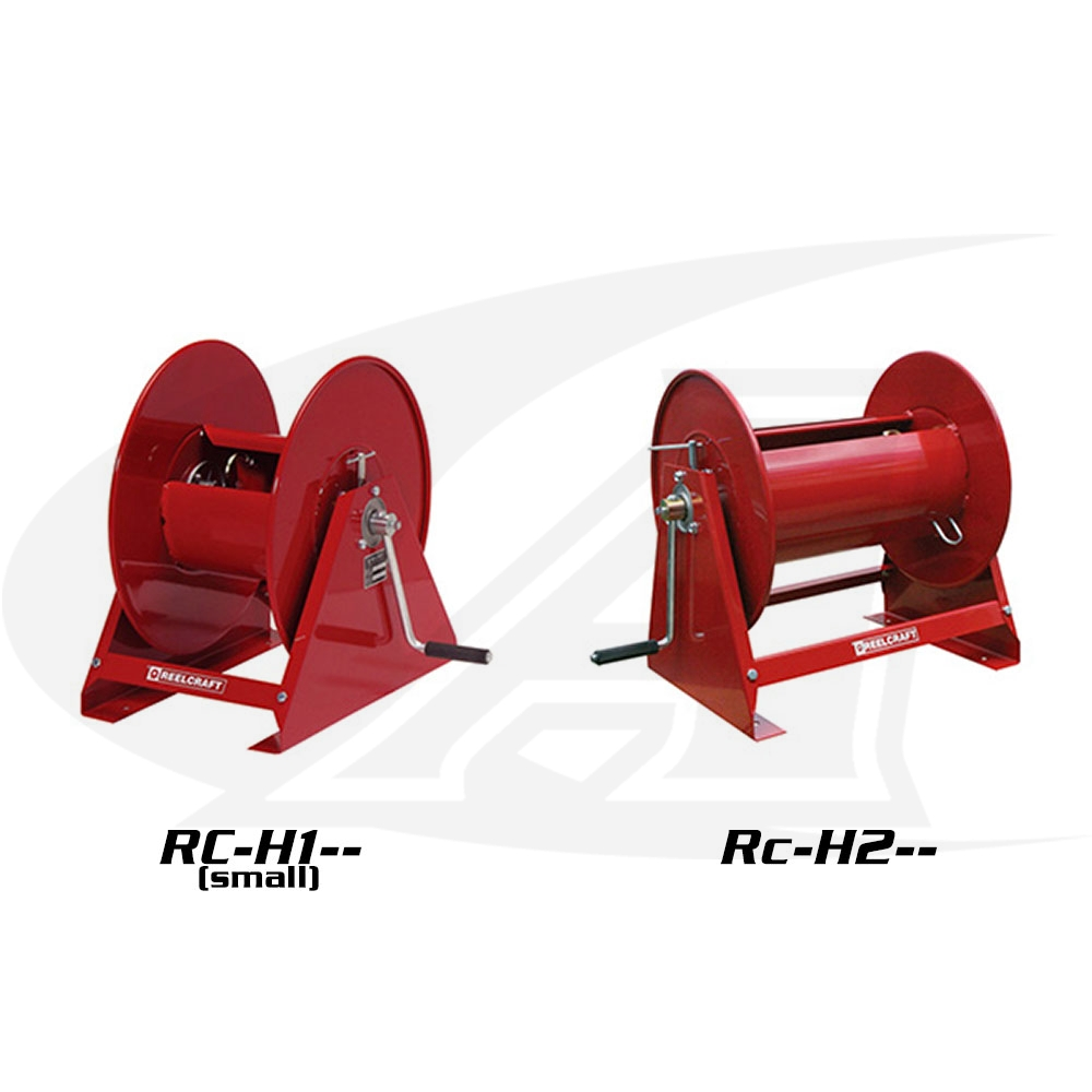 Large Image: Series H Medium Duty Hand Crank Reels - Air/Water - w/o Hose
