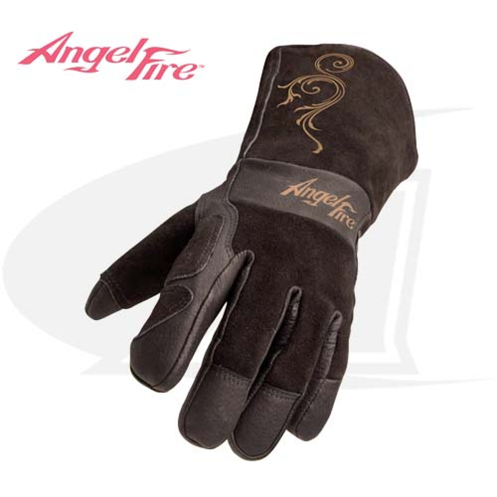 Large Image: AngelFire™ Women's Premium MIG/Stick Welding Gloves