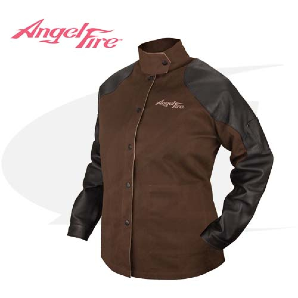 Large Image: BSX AngelFire™ Women's Hybrid Cotton/Leather Welding Jacket